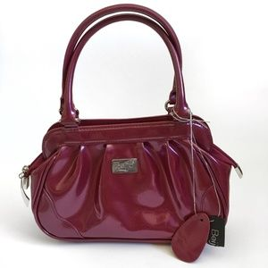 Beijo Zippered Shiny Handbag Pink